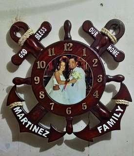 Personalized wall clock made from wood