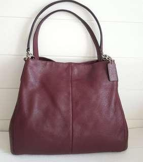 Authentic Coach Phoebe Pebbled Leather Hobo