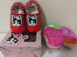 🚚 rebecca bonbon全新狗頭寶寶鞋➕12雙寶寶襪