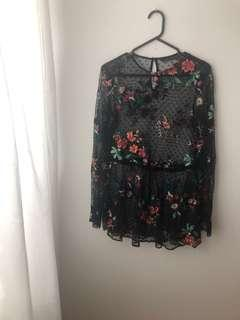 Zara Sheer/Lace top