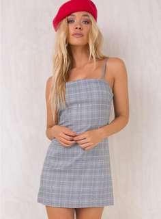 Princess Polly Plaid Mini Dress Size XS