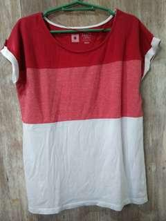 Gradient Red Blouse