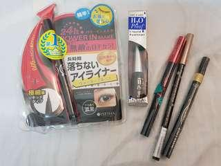 Set of 4 new liquid eyeliner black Branded  waterproof Japan Korea Maybeline Loreal