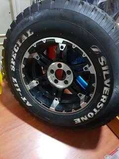 Spare Revo 5x114.3 rims and silverstone tyres