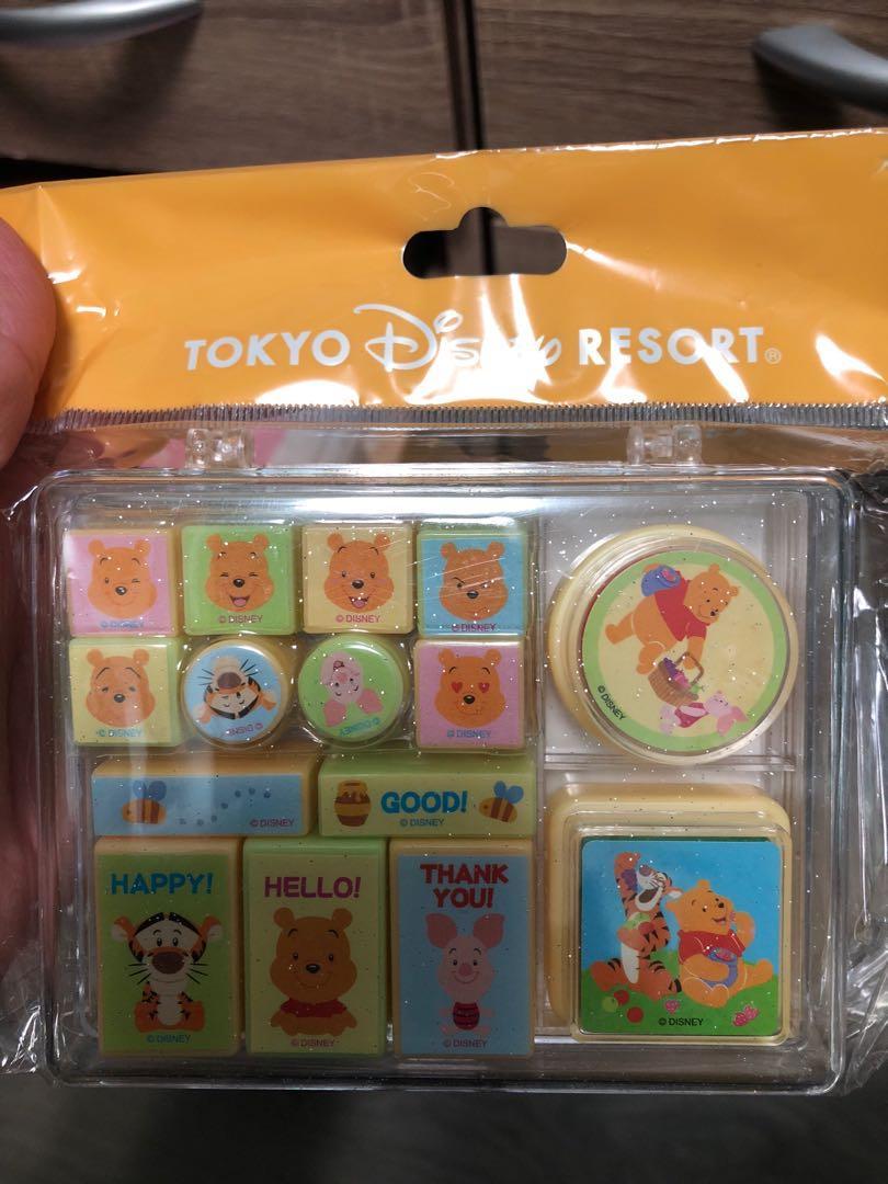 全新 東京迪士尼 小熊維尼印章組