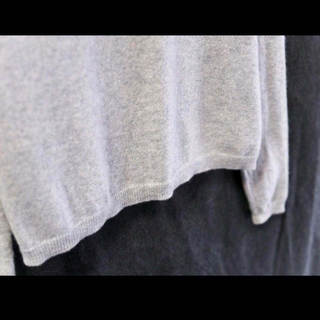 喀什米爾淺灰色高領長袖毛衣 cashmere