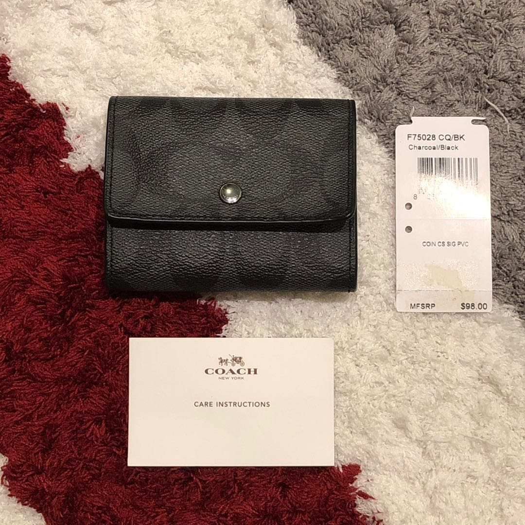 🆕 Coach coin case (Black 3) bbb91bb711