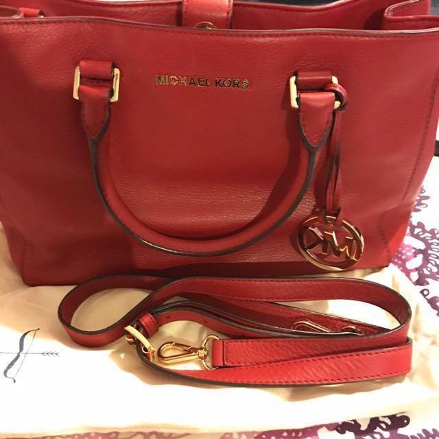 ** PRICE REDUCED ** Michael Kors Small Red Handbag