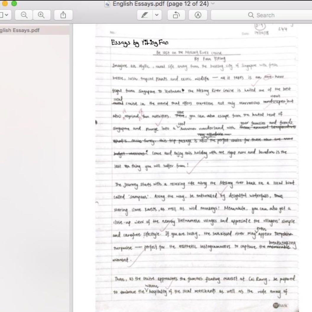 A1 O level English Notes 📝 , Books & Stationery, Textbooks