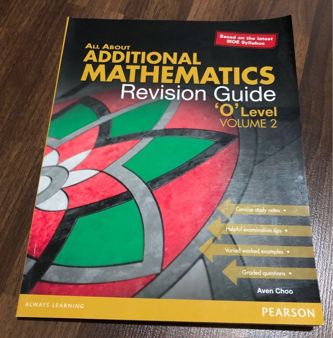 Additional Mathematics Revision Guide O level Volume 2 (Pearson)