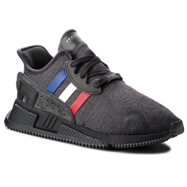 Adidas black EQT with blue,red and