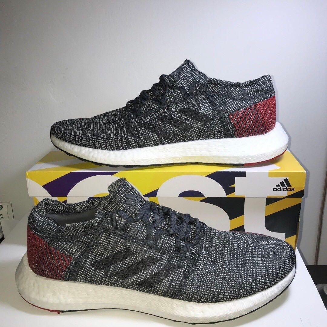 818546b59 Adidas Pureboost GO Carbon Black-Red