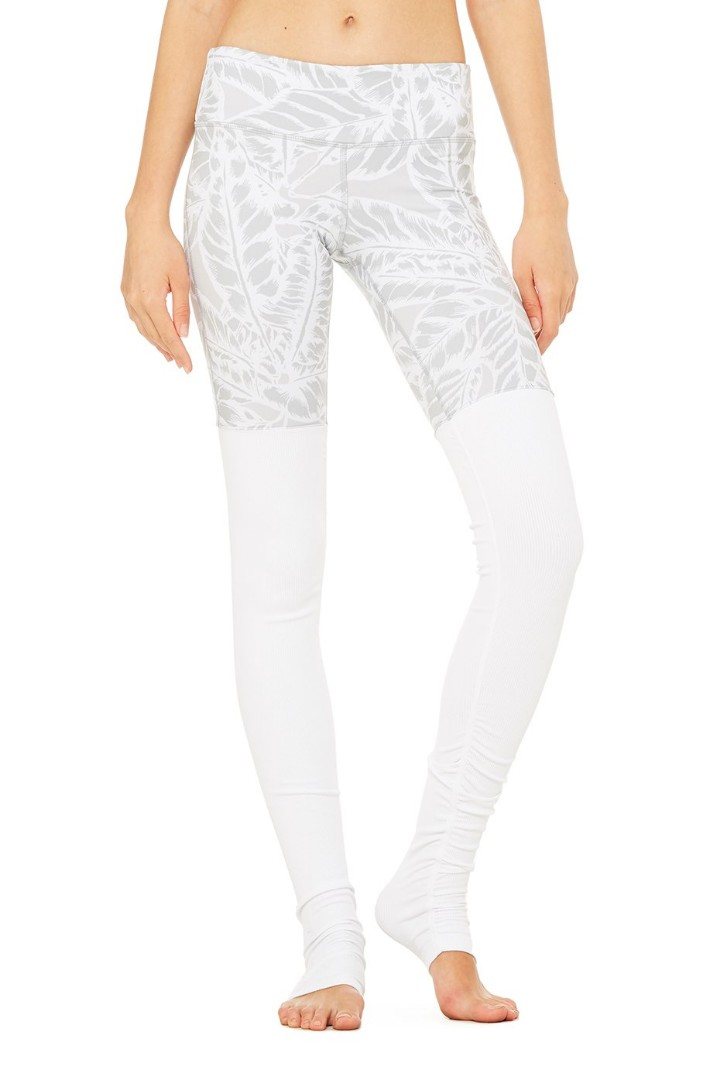 ac4c73bb9cb69 ALO Yoga Goddess Ribbed Legging Palm Springs White, Peralatan Sukan ...