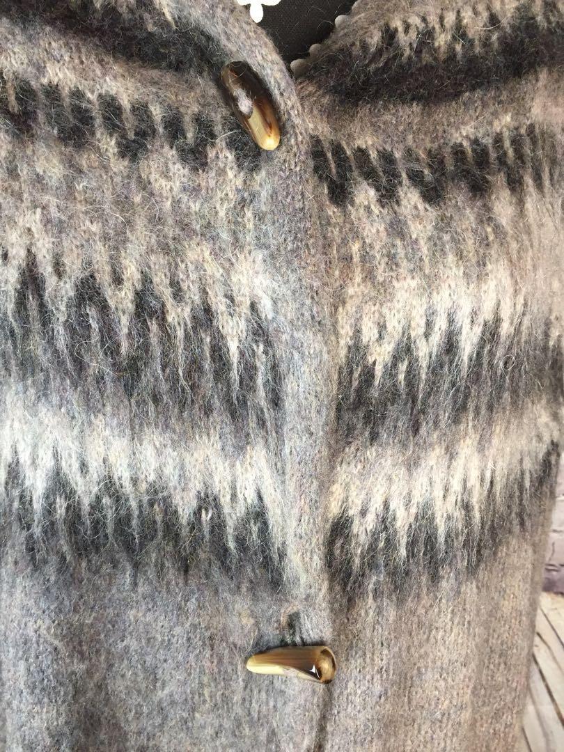 ANTHROPOLOGIE Poncho-Sweater Cardigan Gray Wool Cozy Casual Elsamanda