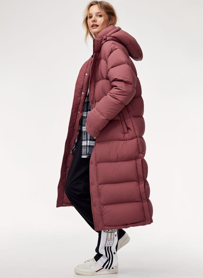 Aritzia TNA Long Super Puff Down Jacket
