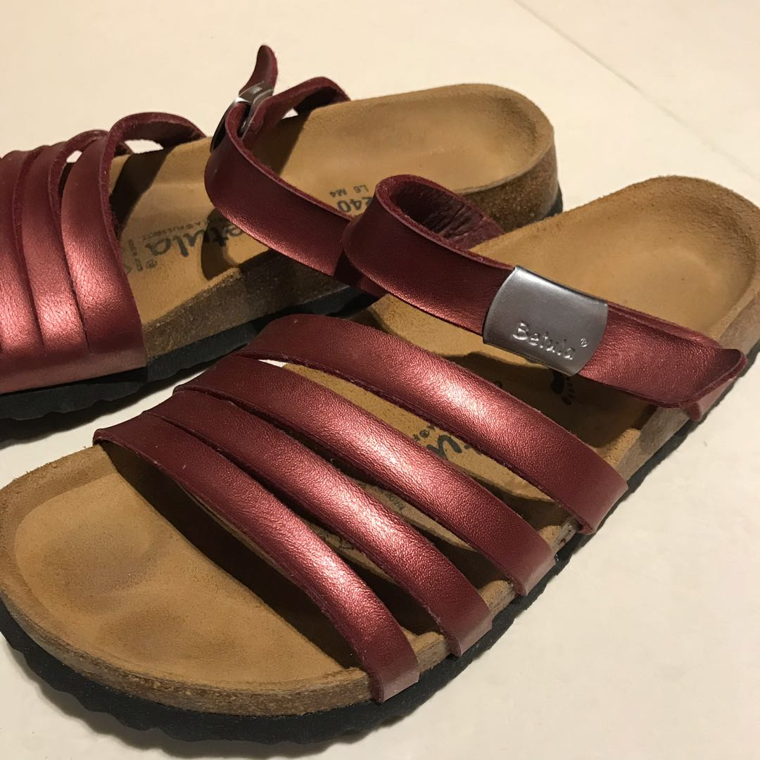 9b7e8c77893 Authentic Betula Slippers in Metallic Red