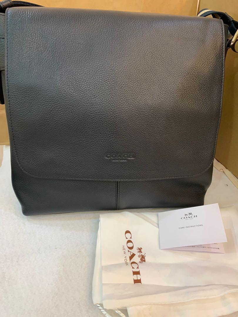 59e346adc51d Authentic coach men messenger bag sling bag flight bag