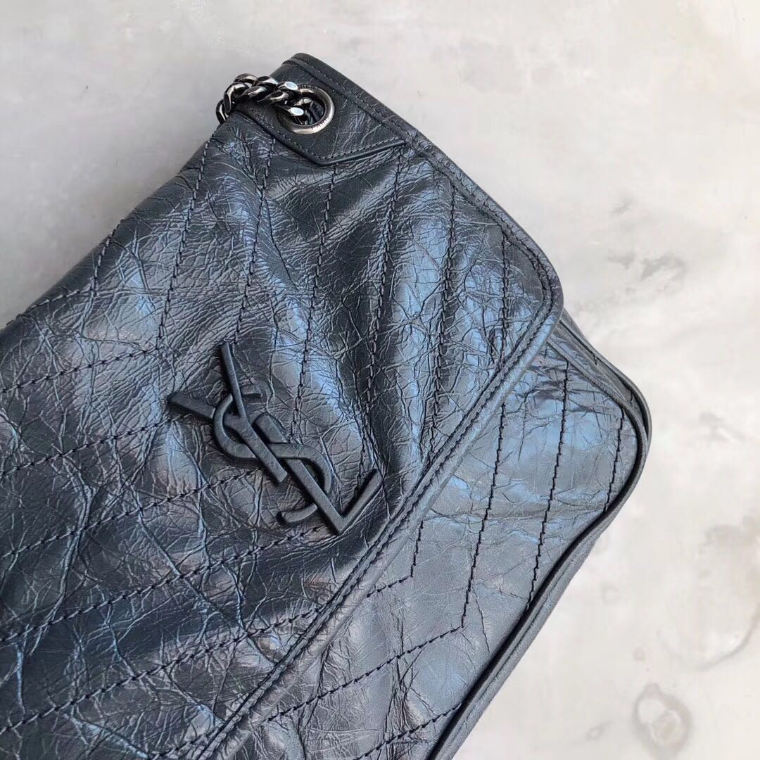 Authentic Pre-loved YSL Saint Laurent Niki Medium in Vintage Leather ... 2ecee589dad3e
