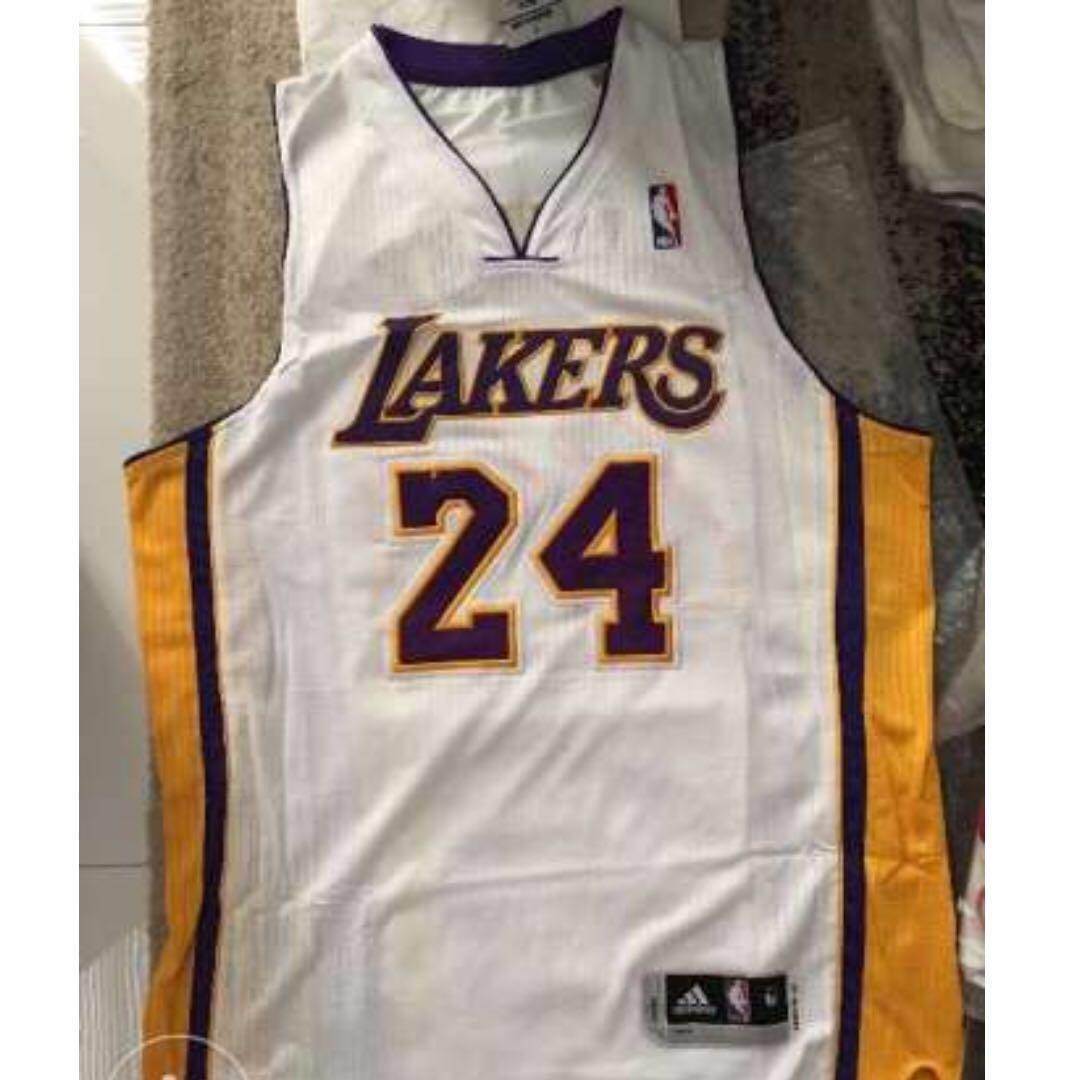 new arrival 84a51 f73f2 Authentic Rev 30 Kobe Bryant Jersey White Lakers on Carousell