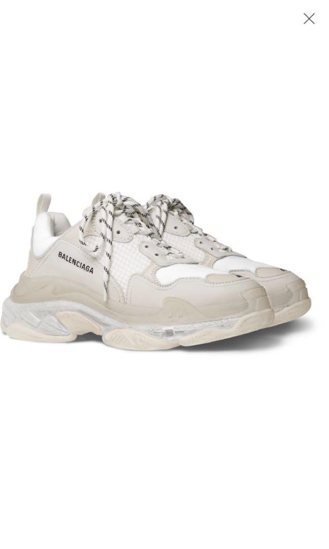 Balenciaga Suede Triple S Low Top Trainers in Light Blue