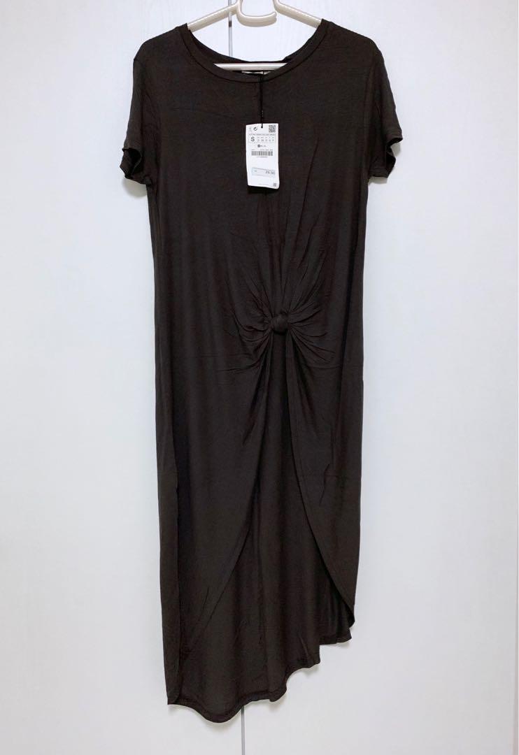 609efd50 BNWT Zara Knotted Dress, Women's Fashion, Clothes, Dresses & Skirts ...