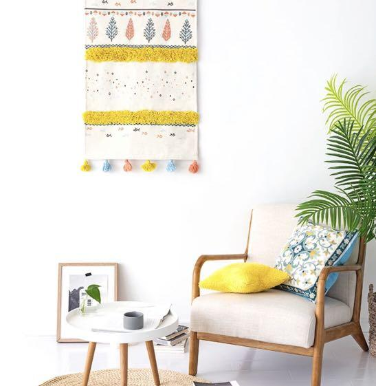 Bohemian cotton canvas wall art hang