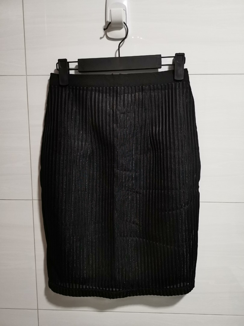 2a146a4eda Brand new: Black Mesh Pencil Skirt, Women's Fashion, Clothes, Pants ...