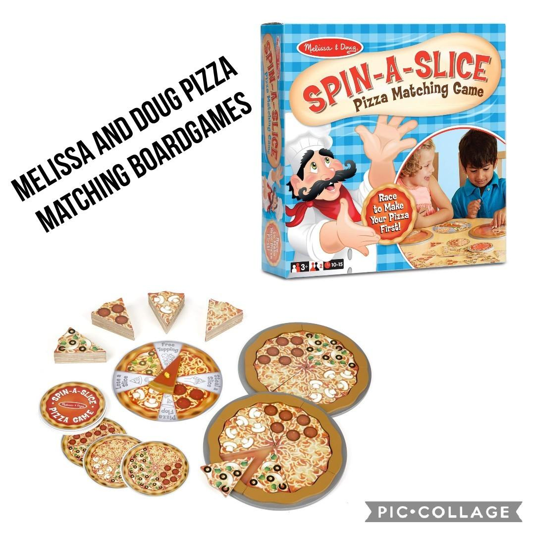Brand New Melissa Doug Spin A Slice Wooden Pizza Base