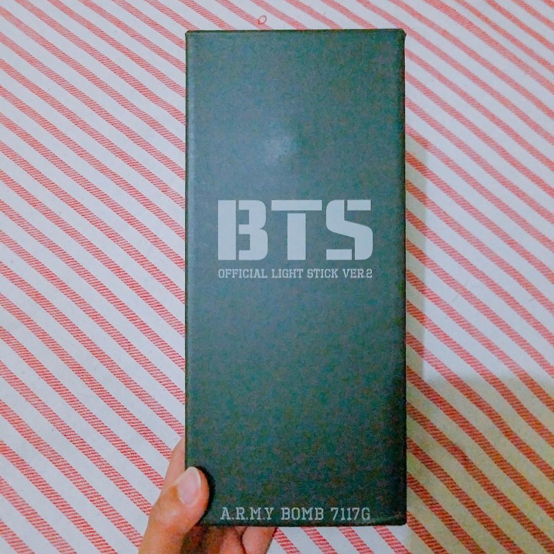 BTS Official Light Stick - Army Bomb (Version 2) + Bonus PC Unofficial