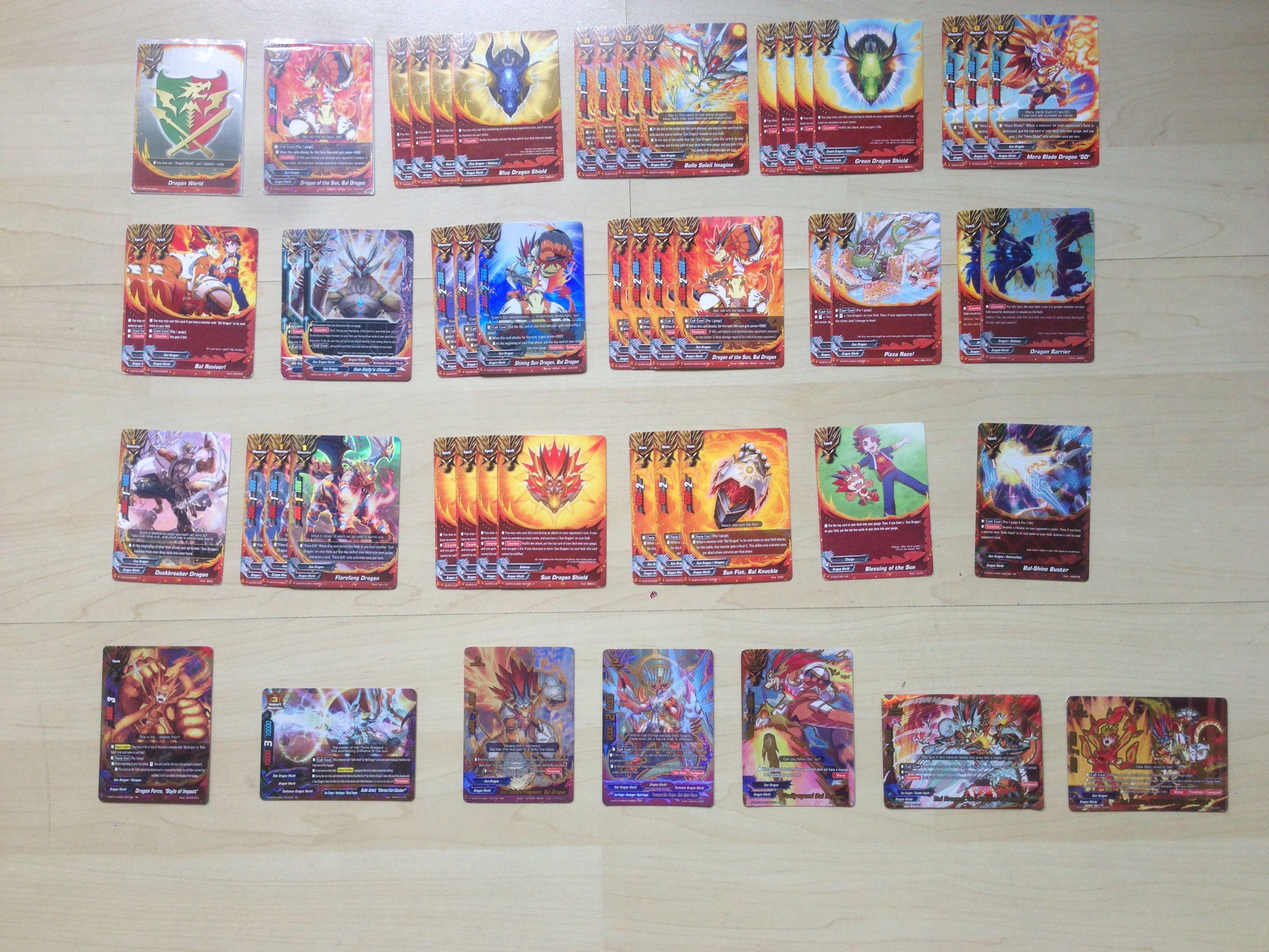 Buddyfight Ddd Sun Dragon Deck Toys Games Board Games Cards On