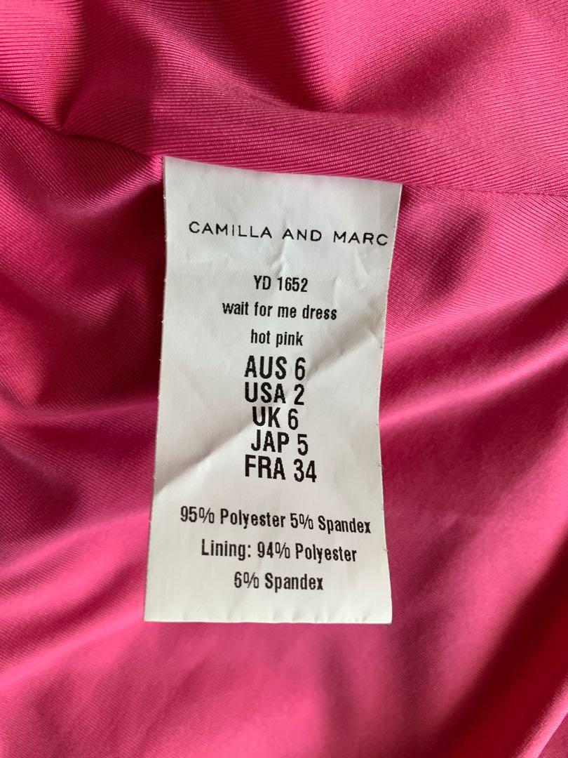 Camilla and Marc Wait for Me dress in hot pink mini dress