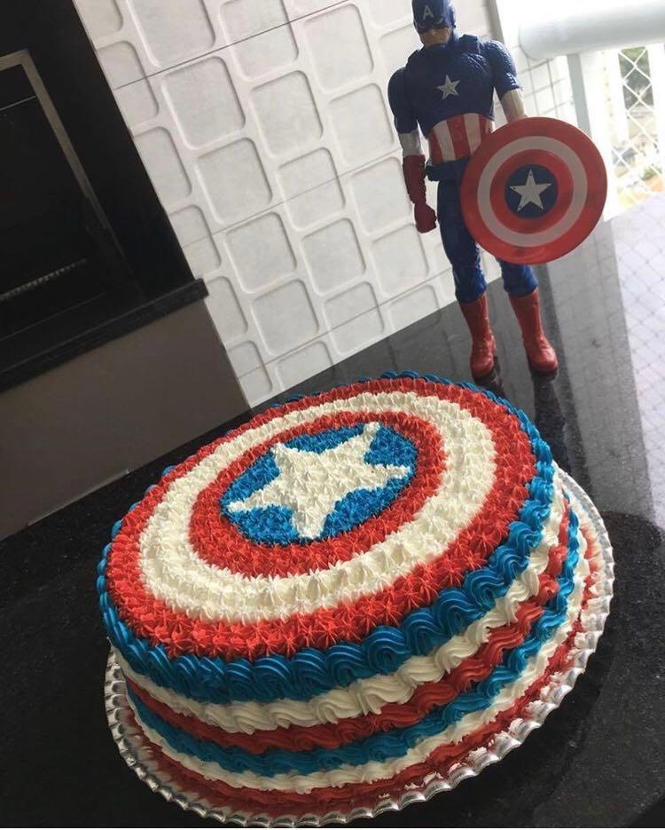 Captain America Birthday Cake 7 Food Drinks Baked Goods On