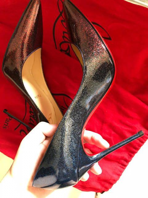 premium selection 67c4e bf5f7 Christian Louboutin HEELS Decollete 554 Red Blue Ombre ...