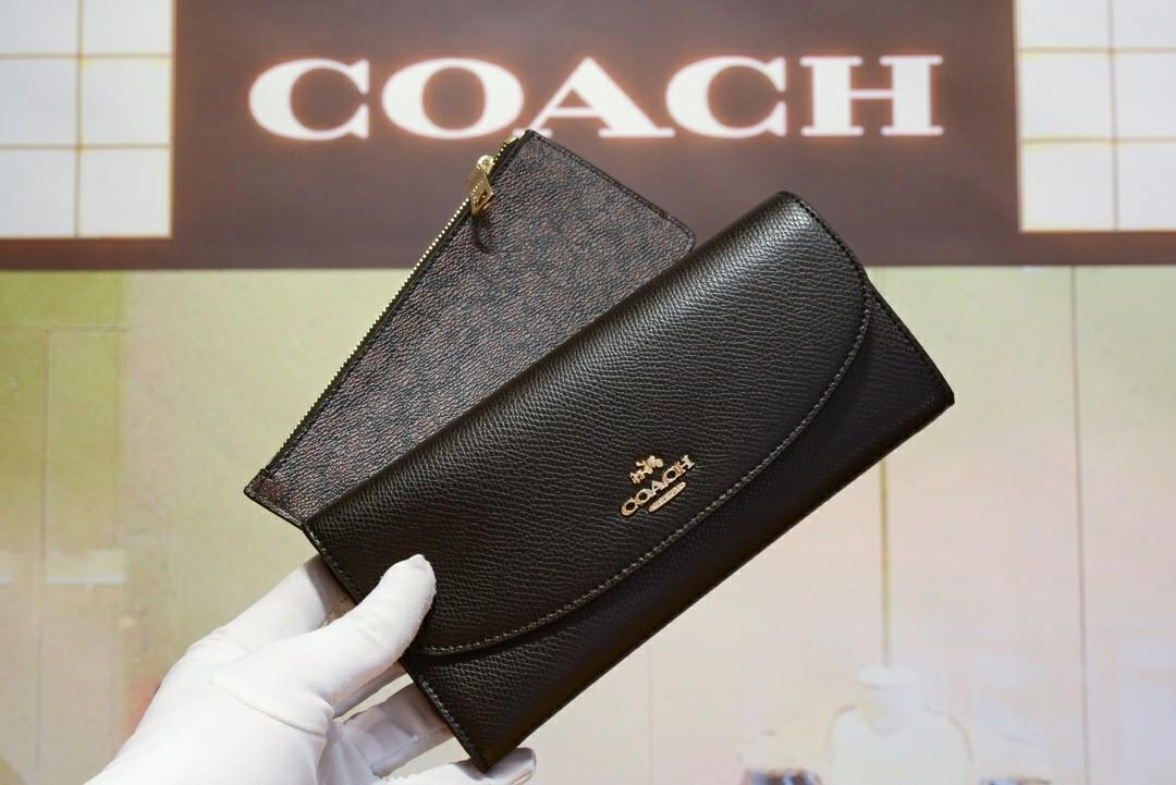 Coach女士信封錢包長夾