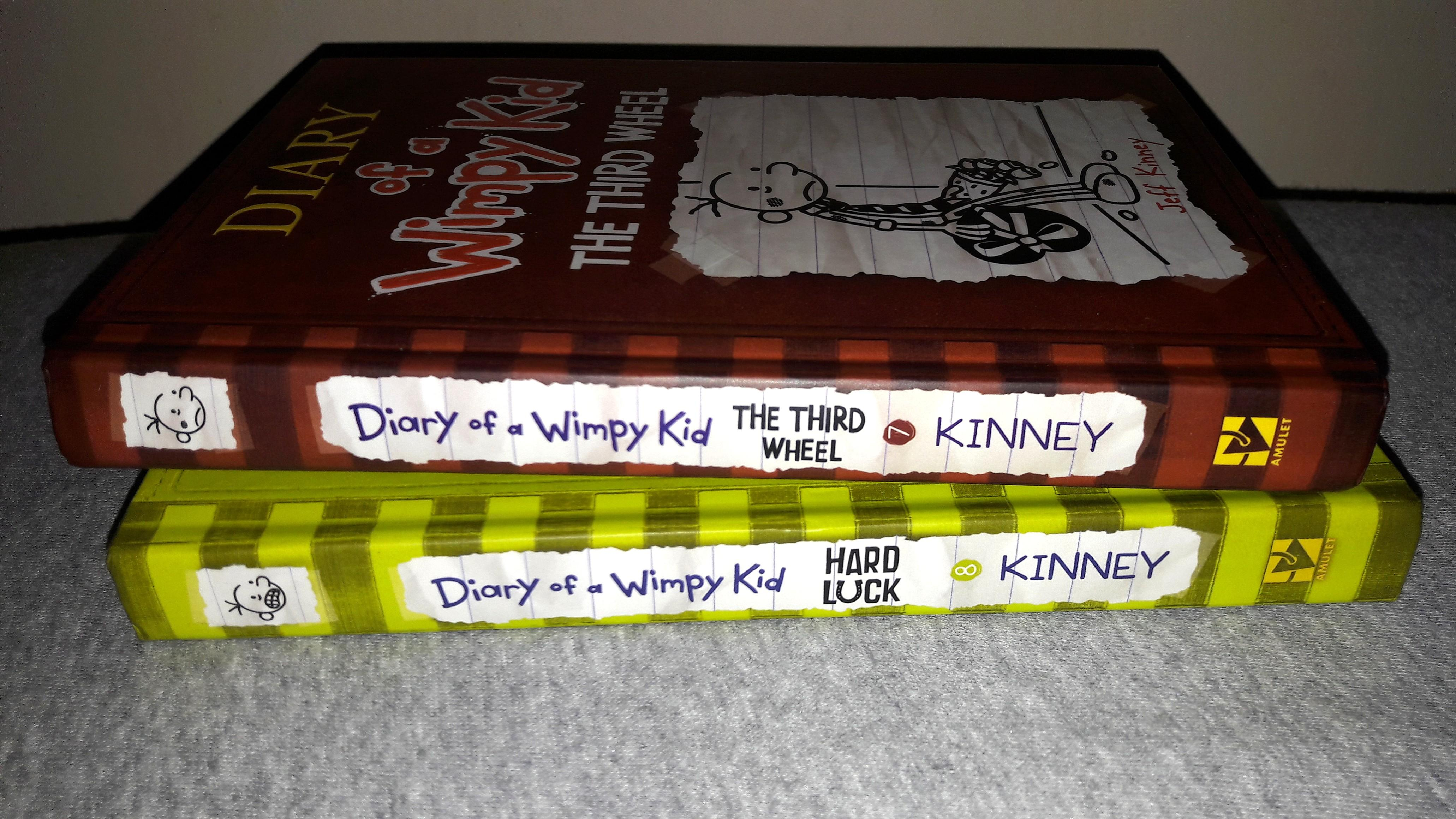 DIARY of a Whimpy Kid: HARD LUCK and THE THIRD WHEEL (hardbound)