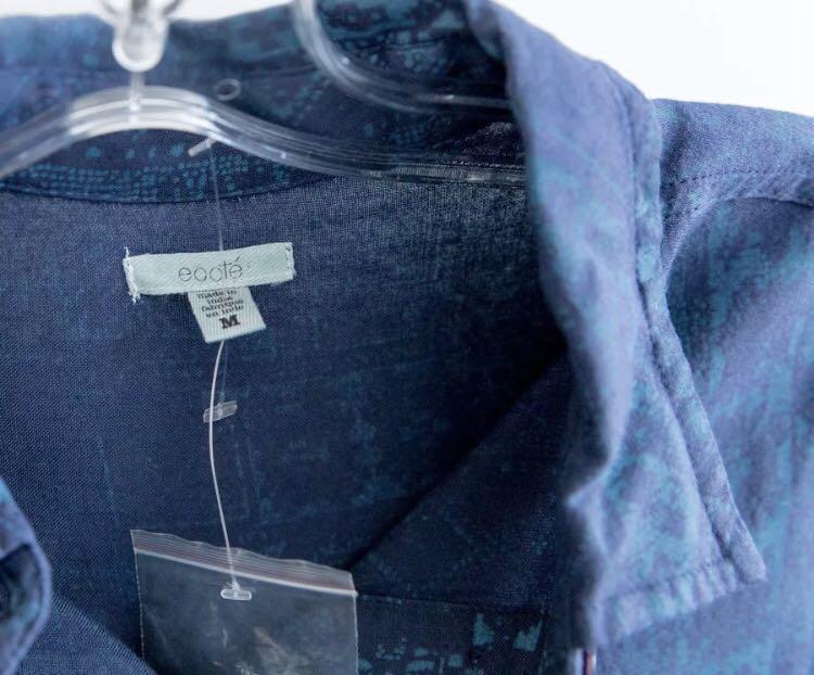 Ecote Urban Outfitters NWT new boho shirt blue M medium loose fit