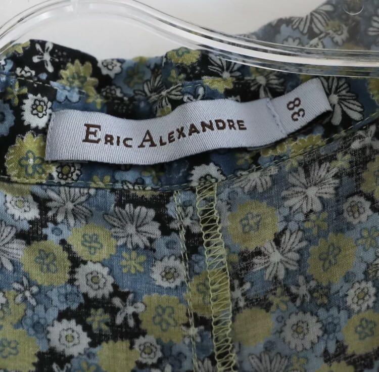 Eric Alexandre green blue floral shirt size 6 small medium