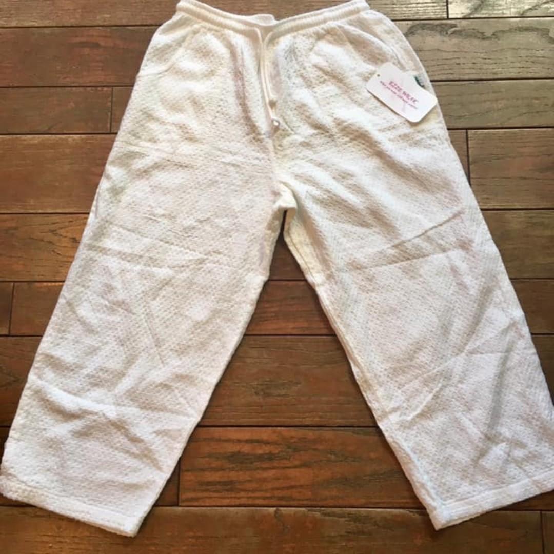 Ezze Wear 100% Cotton Capri / Shorter Pant (Size S; Style #750) - NWT