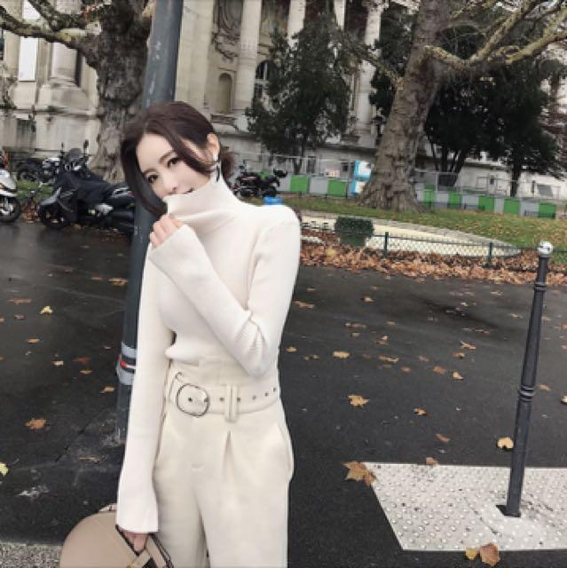 😆FREE SHIPPING* under 500g😆Winter new Korean temperament suit feet pants high waist casual pants Slim pants