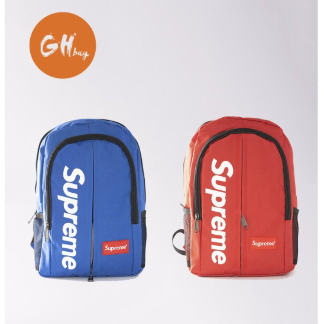 【GH Bag】14 Inch Supreme Backpack Beg Kecil Belakang Beg Motor Bike School Bag