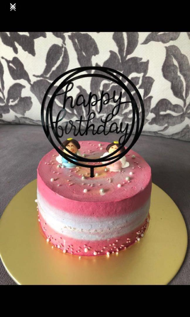 Happy birthday topper number acrylic shiny gold silver