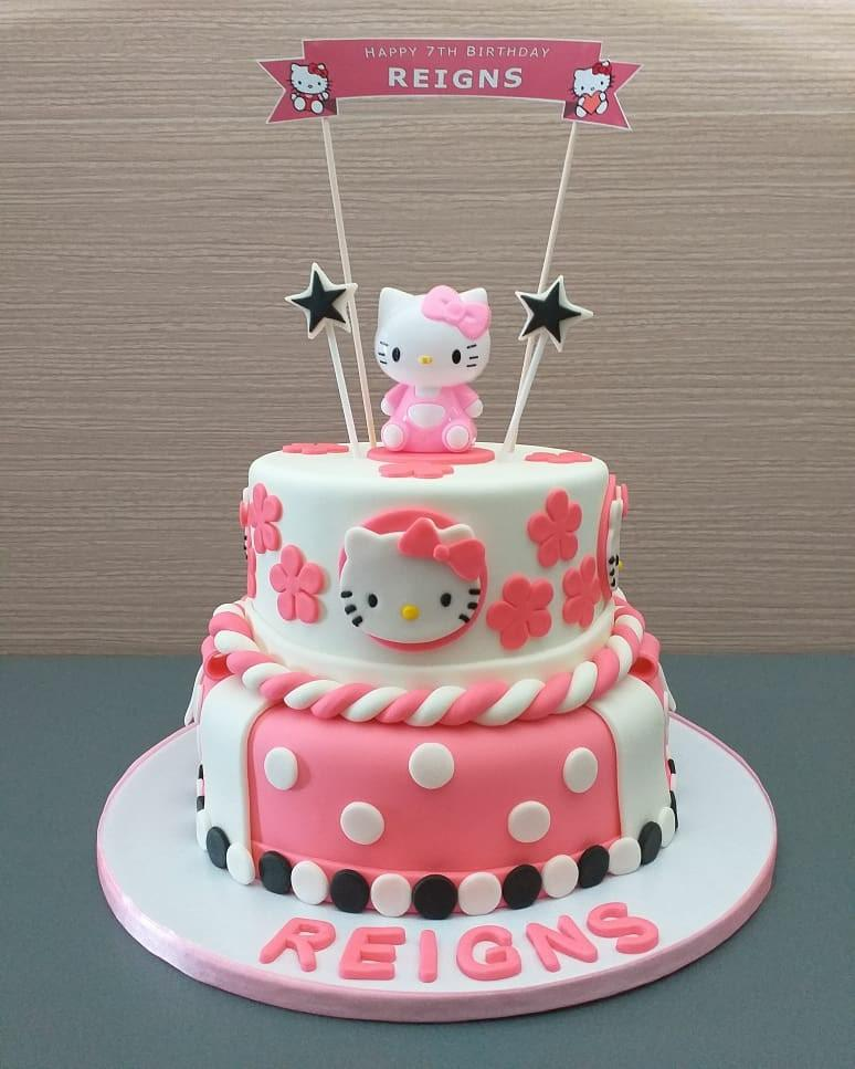 Brilliant Hello Kitty Birthday Cake On Carousell Personalised Birthday Cards Paralily Jamesorg