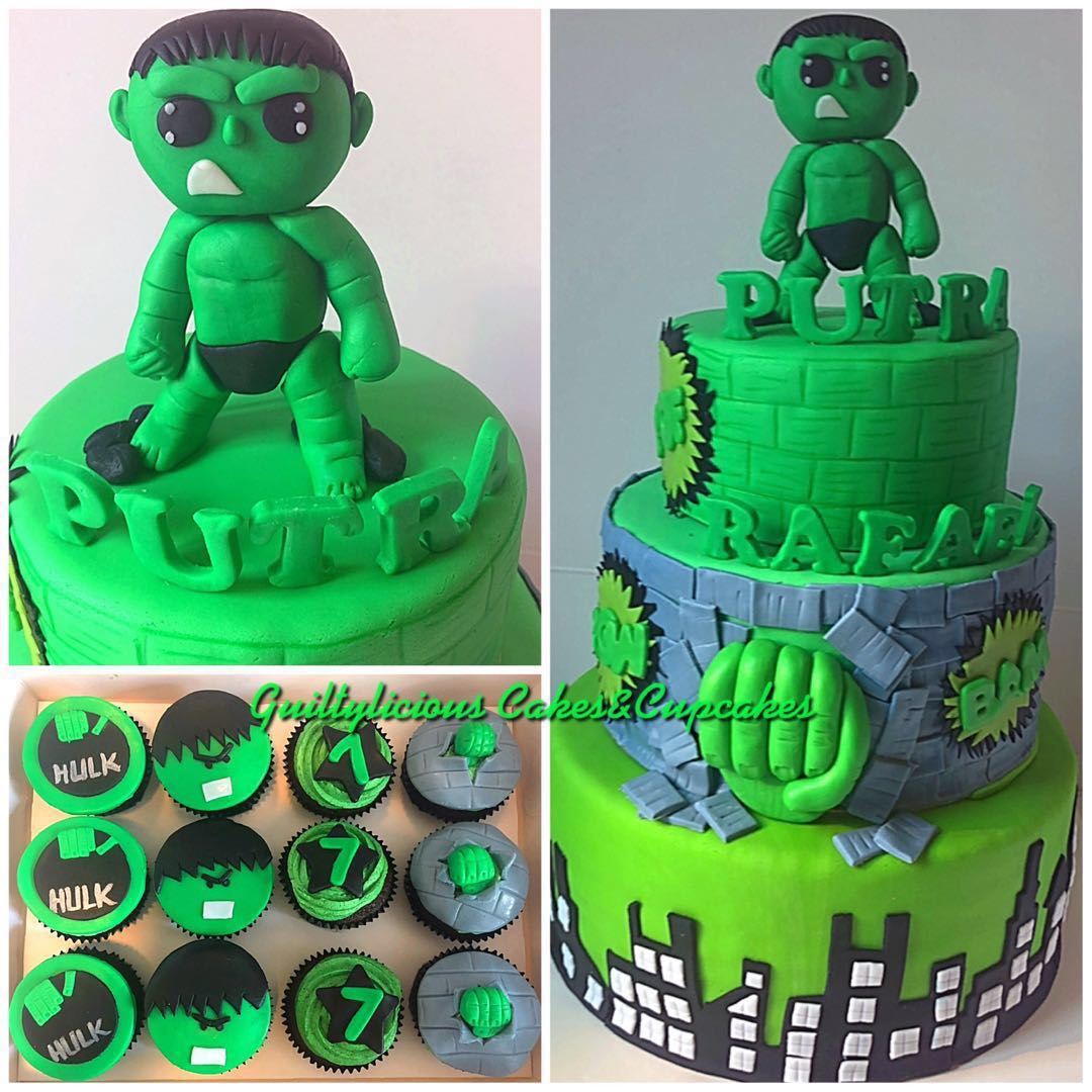 Hulk Superhero Cake Food Drinks Baked Goods On Carousell