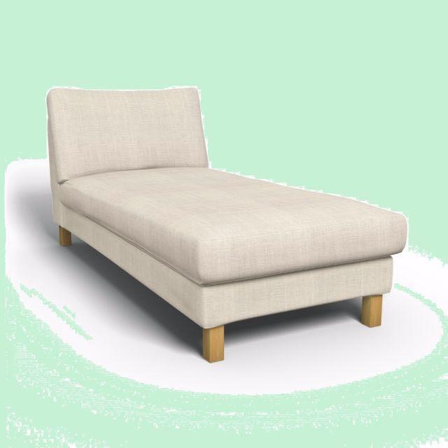 Ikea Karlstad Chaise Lounge Sofa Cover Lindo Beige