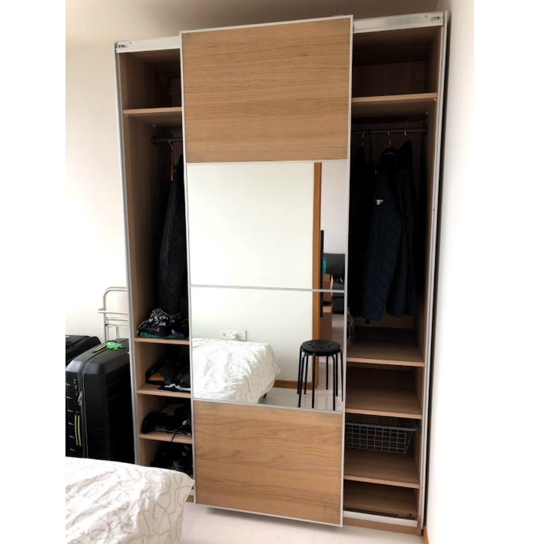 Ikea Pax Wardrobe 200x66x236 Sliding Doors Furniture