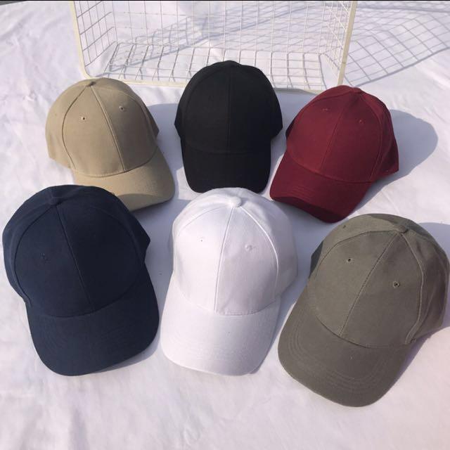 31263f66ed309 INSTOCK! Korean Unisex Plain Baseball Cap