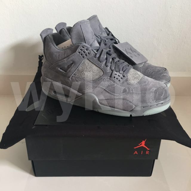 ccf5502f95be7c KAWS x Nike Air Jordan 4  Cool Grey