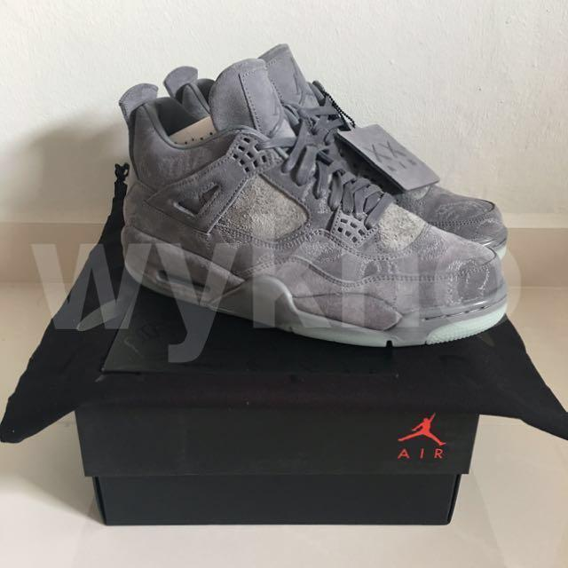 huge selection of f2165 2ad42 KAWS x Nike Air Jordan 4 'Cool Grey', Men's Fashion ...