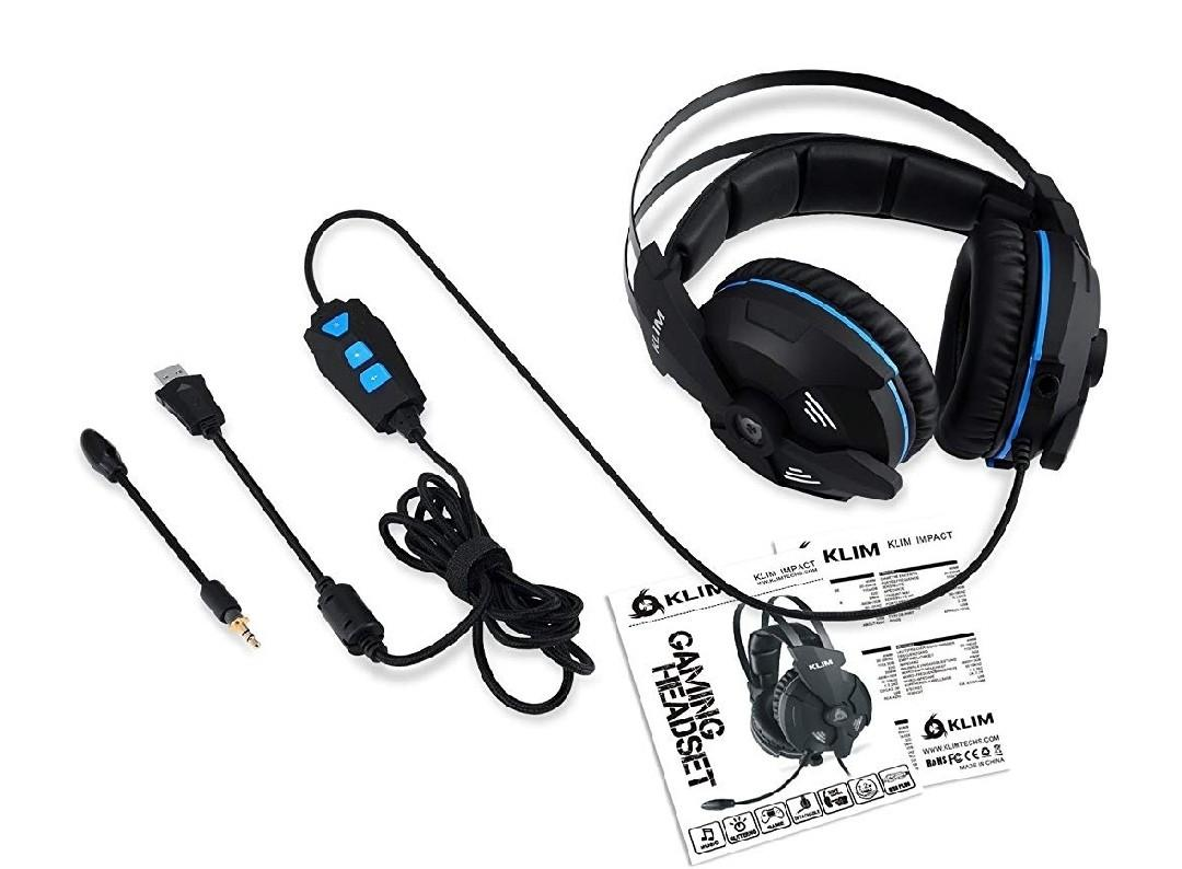 Klim Impact - USB Gaming Headset - 7 1 Surround Sound +