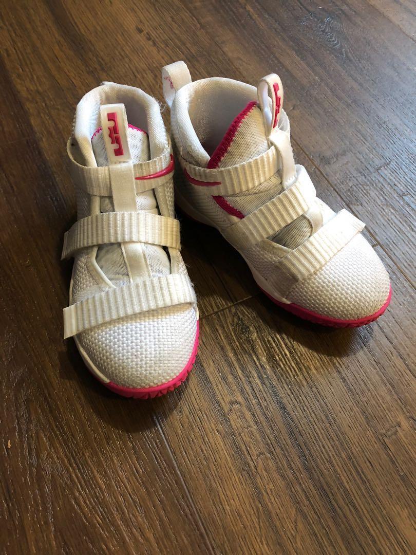 super popular 9b586 e1026 Lebron James Soldier 11 Toddler Shoes
